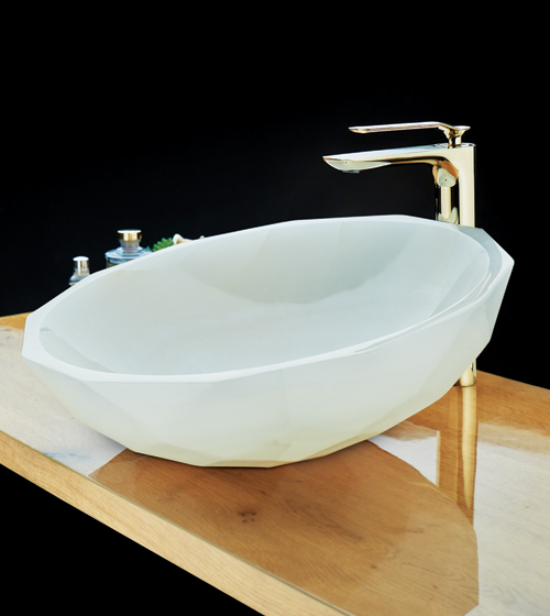 Aquant White Onyx Basin