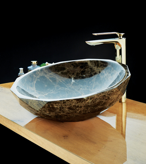 Aquant Brown Marble Wash Basin