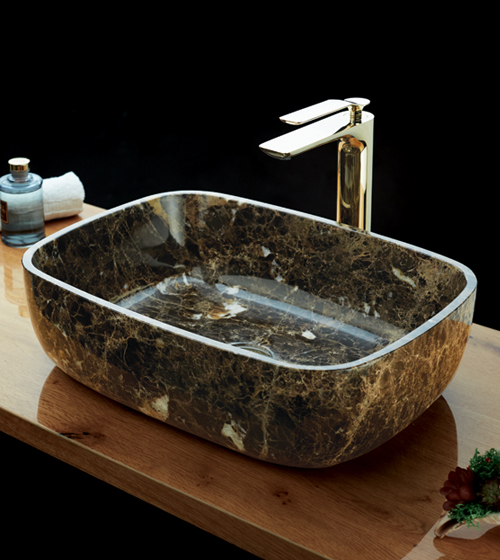 Aquant Brown Marble Basin