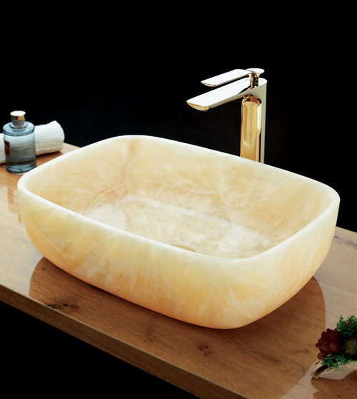 Aquant Yellow Onyx Basin
