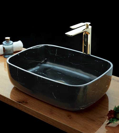 Aquant Black Marble Wash Basin
