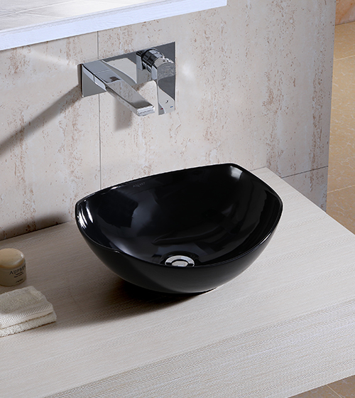 Aquant Black Ceramic Wash Basin