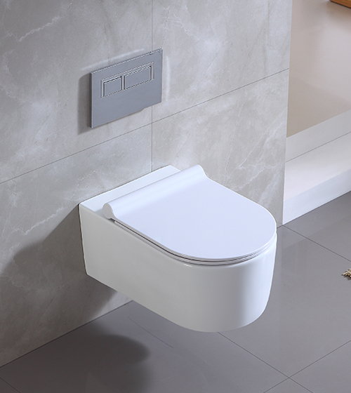 Wall Hung Toilet With Slim Uf Seat Cover, Bathroom Seat Cover