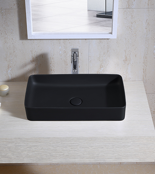 Aquant Matt Black Wash Basin