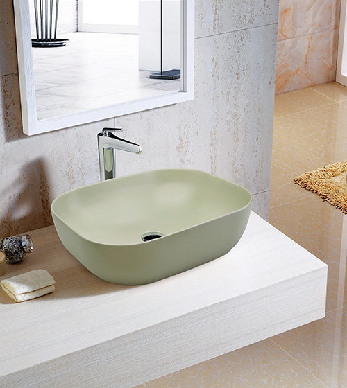 Aquant Matt Mint Finish Wash Basin