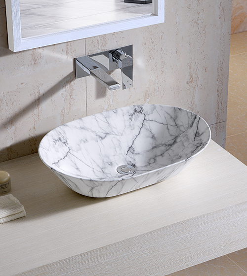 Aquant Marble Finish Ceramic Wash Basin
