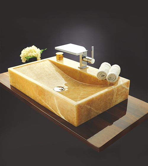 Aquant Yellow Onyx Wash Basin