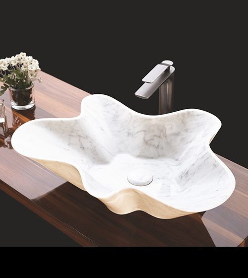 Aquant Carrara Marble Wash Basin
