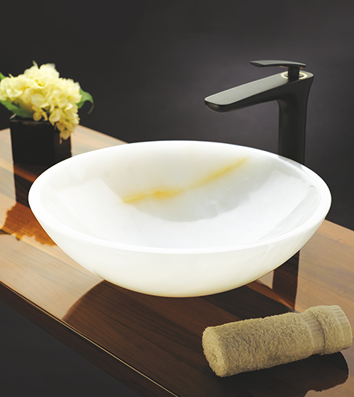 Aquant White Onyx Wash Basin