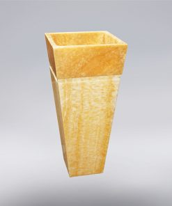 Aquant Yellow Onyx Pedestal Wash Basin