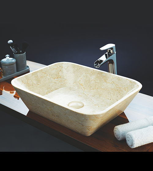 Aquant Cream Marble Wash Basin