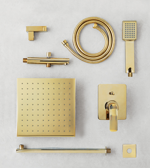 Aquant Gold Shower Set