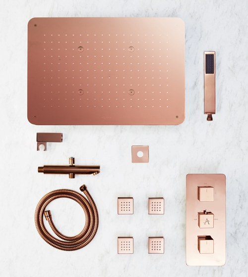 Aquant Rose Gold Shower Set