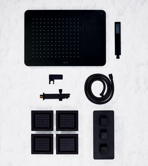 Aquant Matt Black Shower Set